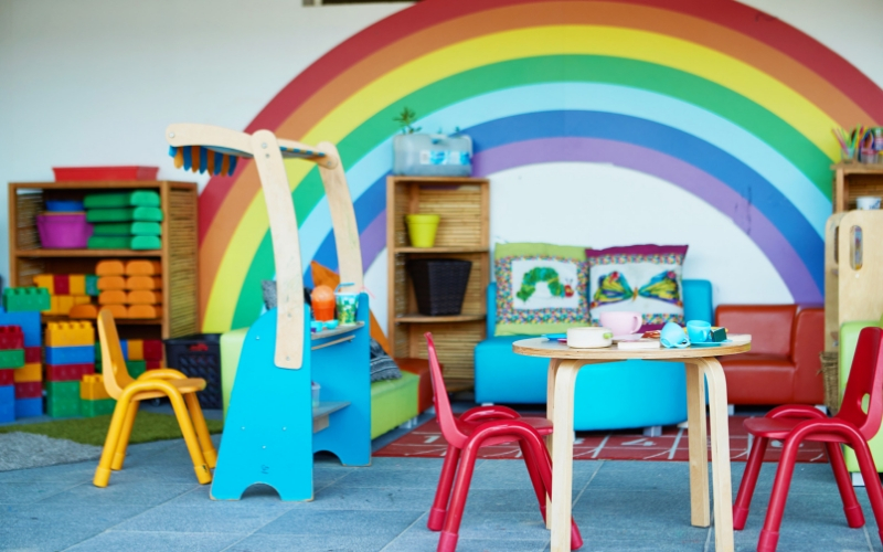 Alexandria childcare and preschool play area