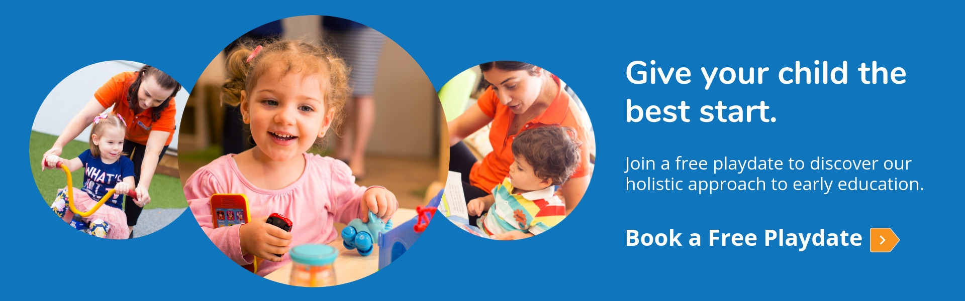 Give your child the best start - discover our holistic approach to early education - book a free playdate