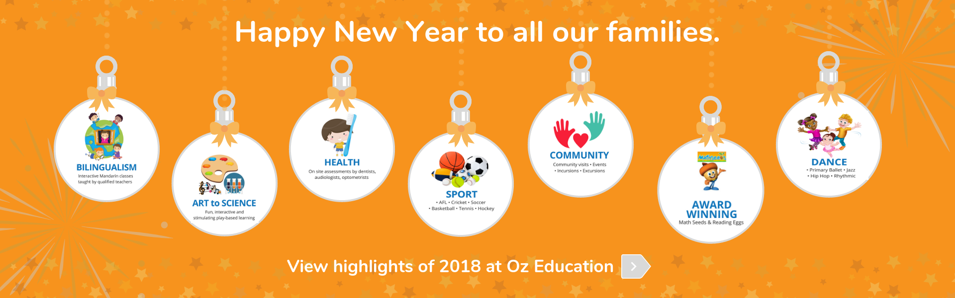 Happy New Year 2019 - View highlights of 2018 at Oz Education