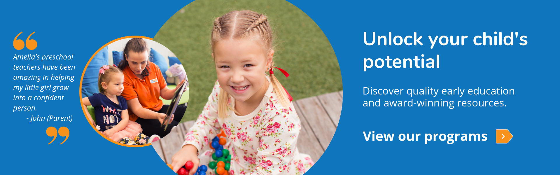 Unlock your child's potential - Discover quality early education and award-winning resources. View our programs.