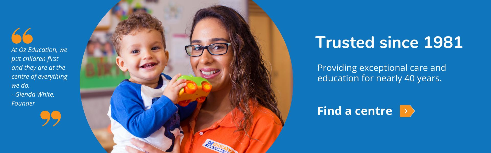 Find a child care, preschool, daycare or kindergarten near you.