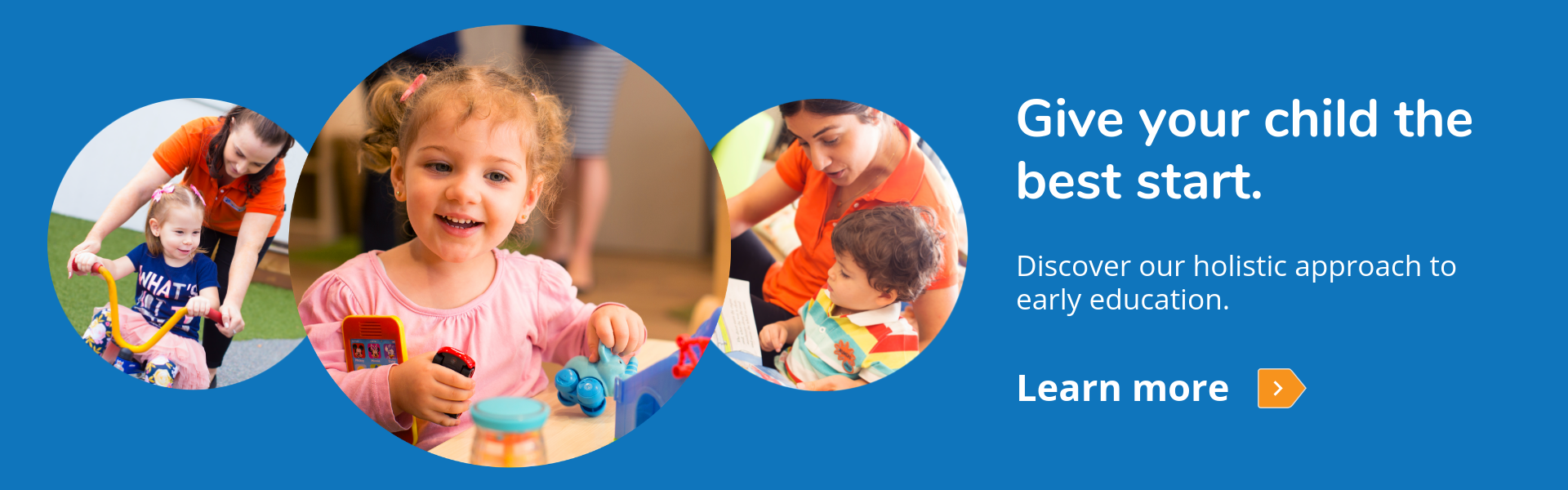 Give your child the best start - discover our holistic approach to early education
