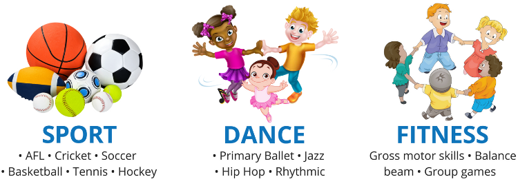 Childcare and preschool sport dance and fitness program