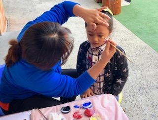 Mother's Day Activities - facepainting